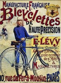 Vintage French cycling poster - Haute precision Co.